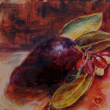 """""""Avocado Study"""" original fine art by Carol DeMumbrum"""