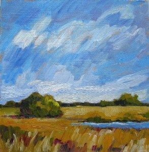 """September High Noon"" original fine art by Nicki Ault"