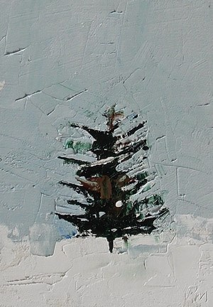 """Xmas Tree"" original fine art by Pamela Munger"