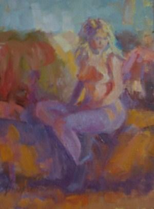"""Blue Shoes"" original fine art by Bruce Bingham"