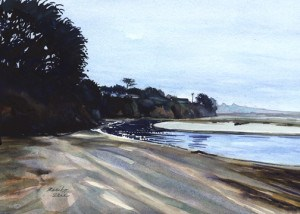 """Ten Miles River at Seaside Beach"" original fine art by Mariko Irie"