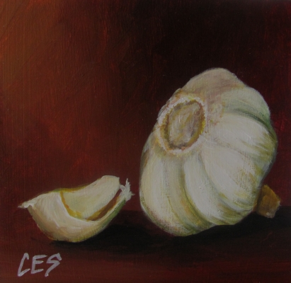 """Garlic"" original fine art by ~ces~ Christine E. S. Code"