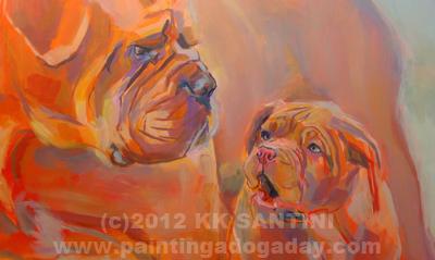 """But, Mom...."" original fine art by Kimberly Santini"