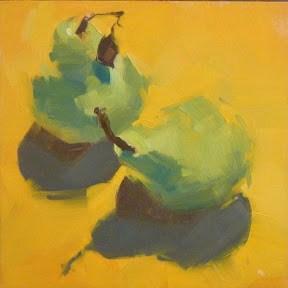 """SUNSHINE PEARS"" original fine art by Helen Cooper"