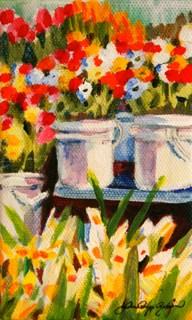 """Spring Fling"" original fine art by JoAnne Perez Robinson"