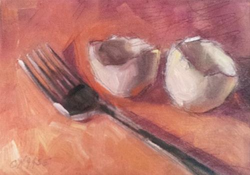 """Fried or Poached?"" original fine art by Cindy Haase"