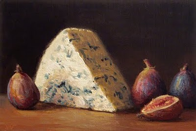 """Bleu Cheese with Figs"" original fine art by Abbey Ryan"