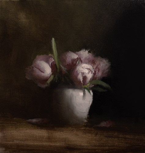 """Peonies"" original fine art by Neil Carroll"