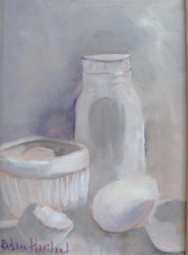"""White on White  Still Life  oil painting Barbara Haviland--BarbsGarden"" original fine art by Barbara Haviland"