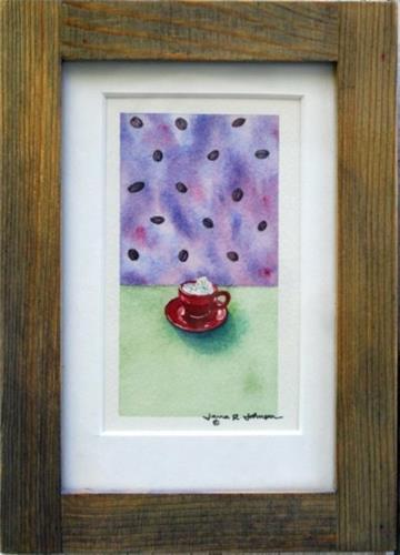 """Cuppa Cappuccino"" original fine art by Jana Johnson"