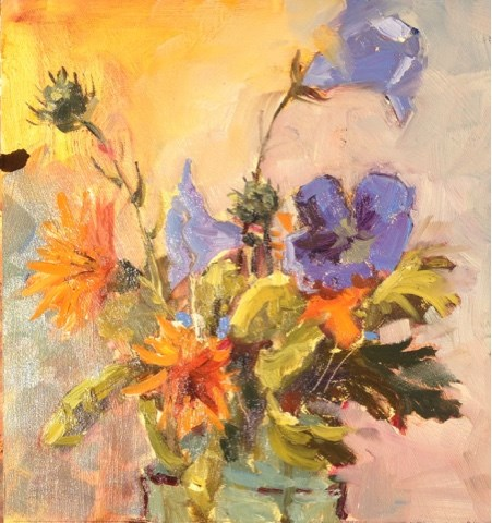 """Day 19 of 30 Flowers"" original fine art by Mo Teeuw"