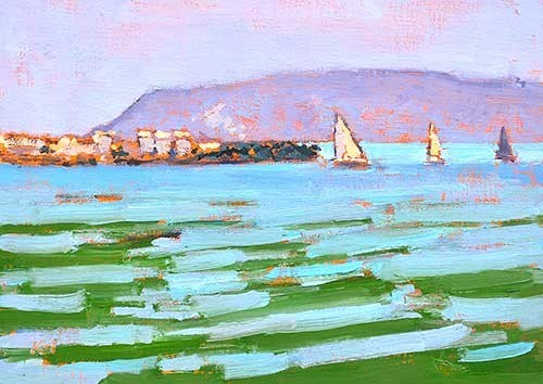 """San Diego Bay"" original fine art by Kevin Inman"