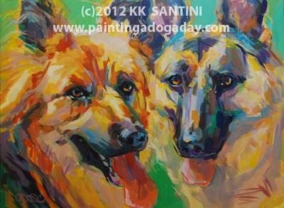 """Nikki and Yuri"" original fine art by Kimberly Santini"