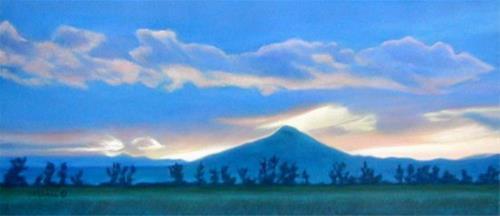 """""""Blue Lone Mountain"""" original fine art by Carol Zirkle"""