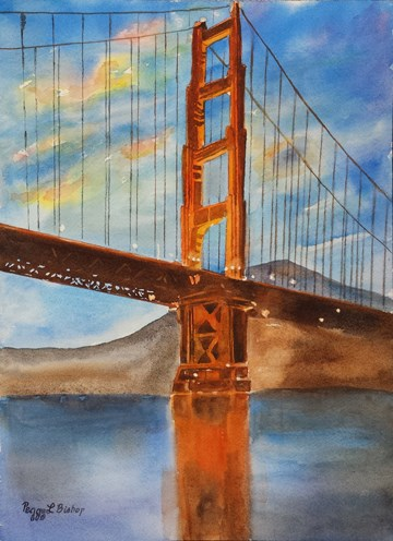 """Golden Gate Bridge"" original fine art by Peggy Bishop"