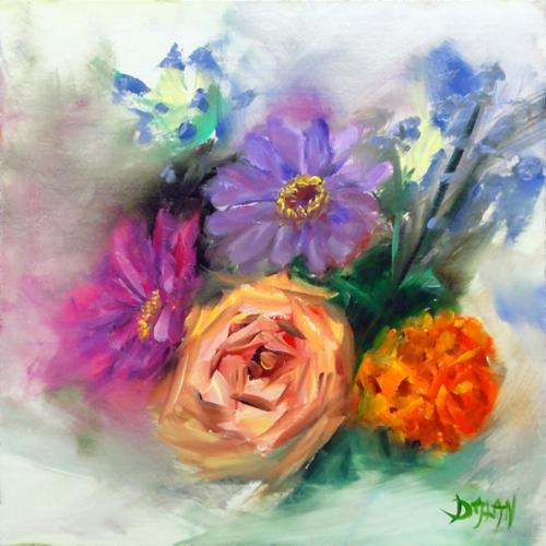 """""""Mixed Flower Still Life"""" original fine art by Dalan Wells"""