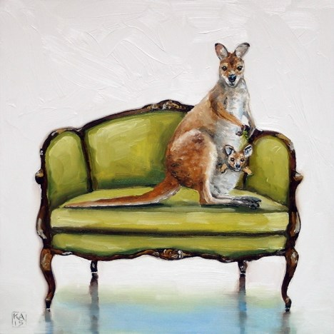 """best seat in the house"" original fine art by Kimberly Applegate"