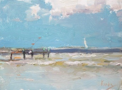 """Windy Day"" original fine art by Randall Cogburn"