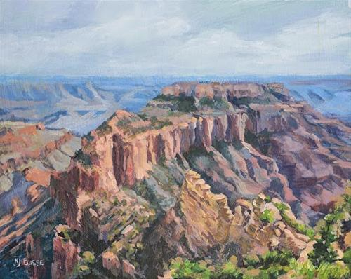 """Western Landscape Painting, Grand Canyon WOTAN'S THRONE by Colorado Artist Nancee Jean Busse"" original fine art by Nancee Busse"