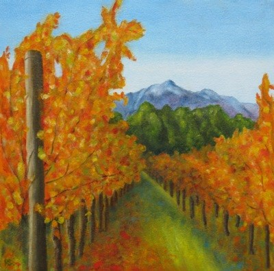 """Magical Stellenbosch III"" original fine art by Pera Schillings"
