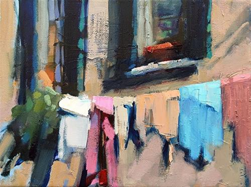 """""""Wash Day"""" original fine art by Trisha Adams"""