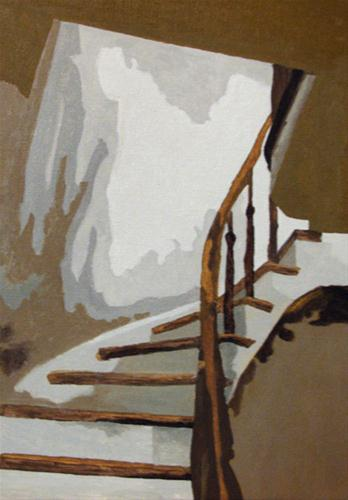 """Up the Staircase"" original fine art by Nan Johnson"