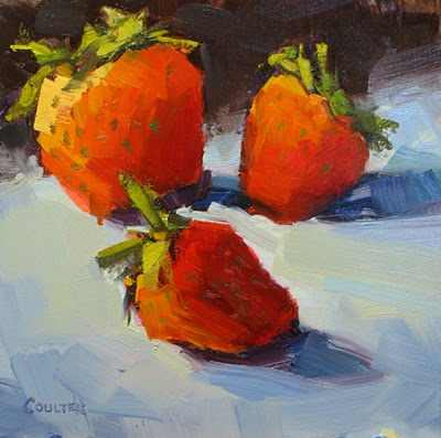 """THREEBERRIES"" original fine art by James Coulter"