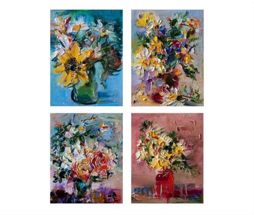 """Spring Flowers"" original fine art by Anna  Fine Art"