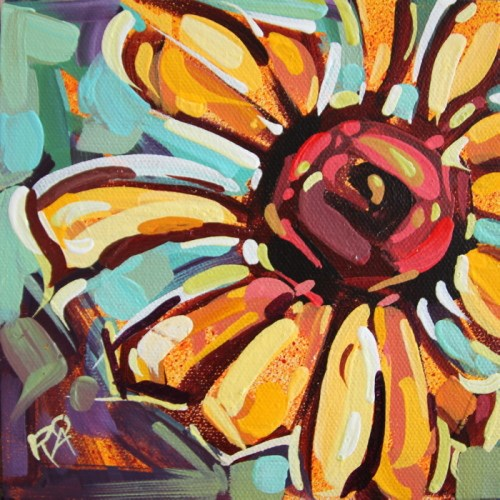 """""""Flower Abstraction 192"""" original fine art by Roger Akesson"""