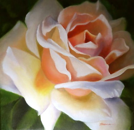 Anniversary Rose original fine art by Carol Keene