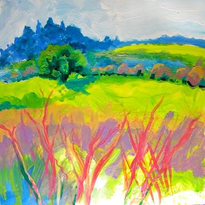"""Frazier Wetland 1"" original fine art by Pam Van Londen"