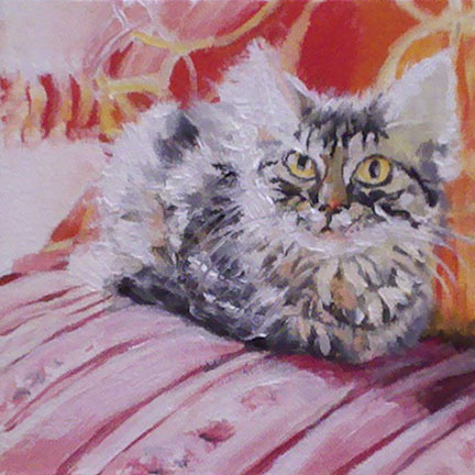 """Soft Cat"" original fine art by Linda Lowery"