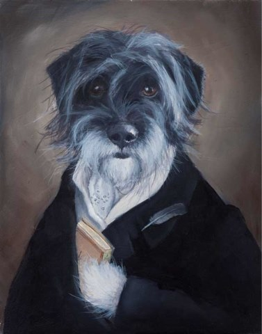 """Sir Foote featured on Dog Art Today!"" original fine art by Clair Hartmann"