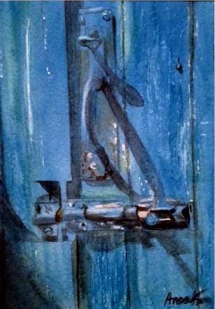 """""""Latch"""" original fine art by Anoa Kanu"""