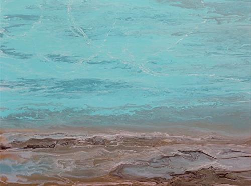 """Abstract Seascape,Beach, Ocean Coastal Living Decor Calling Softly by Colorado Contemporary Artist"" original fine art by Kimberly Conrad"