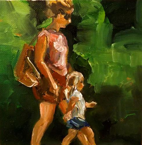 """""""Walking,U30"""" original fine art by Run-      Zhang Zane"""