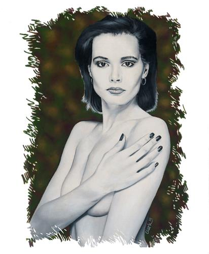 """Gina"" original fine art by David Clark"