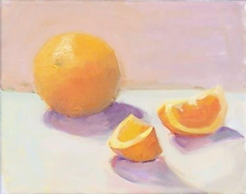 """Oranges,still life,oil on canvas,8x10,price$400"" original fine art by Joy Olney"