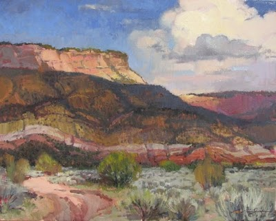 """Above Abiquiu"" original fine art by V.... Vaughan"