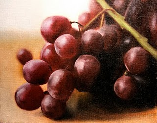 """Grapes 3"" original fine art by Jonathan Aller"