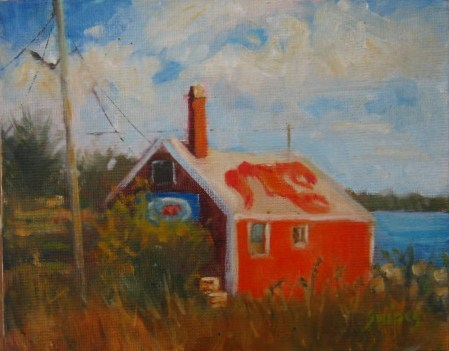 """Fresh Seafood, St. Andrews, Canada"" original fine art by Connie Snipes"