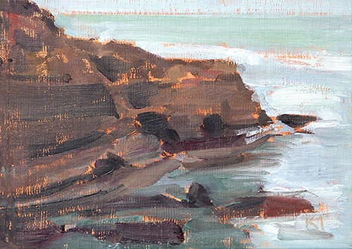"""Haze, Ocean Beach"" original fine art by Kevin Inman"
