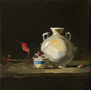 """""""Being in the Dark --- Sold"""" original fine art by Qiang Huang"""