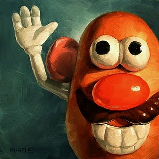 """Mr. Potato Head"" original fine art by Michael Naples"