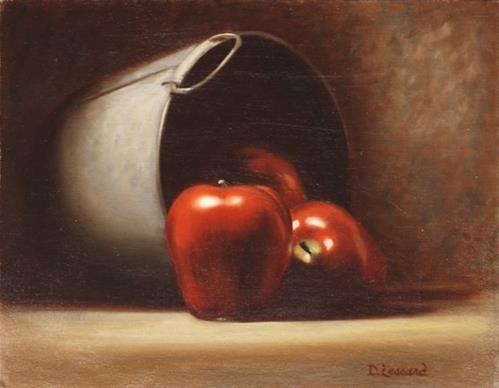 """Apple Harvest #601"" original fine art by Dee Lessard"
