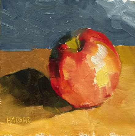 """An Apple a Day"" original fine art by Alice Hauser"