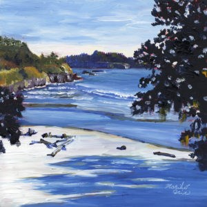 """Sunny April at Big River Beach"" original fine art by Mariko Irie"