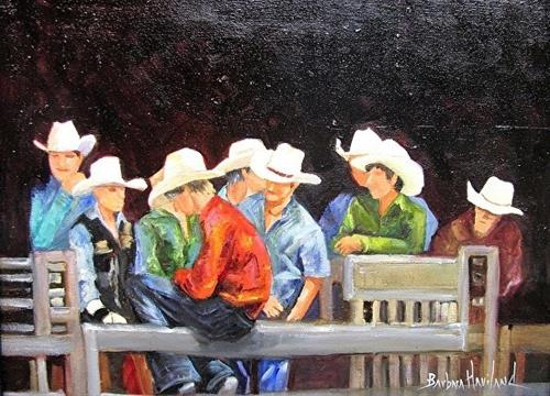 """White Hat Cowboys"" original fine art by Barbara Haviland"