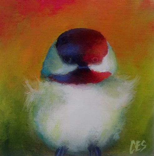 """""""Technicolor Chickadee"""" original fine art by ~ces~ Christine E. S. Code"""