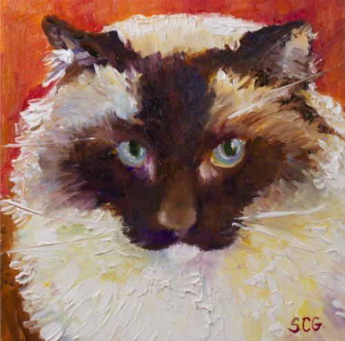 """""""A Beautiful Face"""" original fine art by Sue Churchgrant"""
